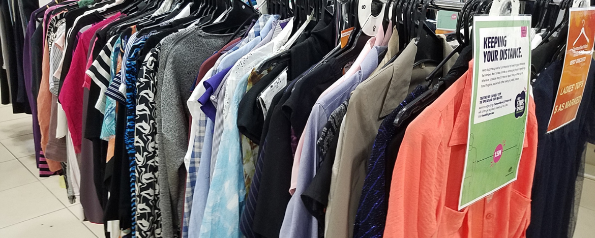 Men and Women's Clothing in Op Shop Canberra Communities@Work Best Dressed Store